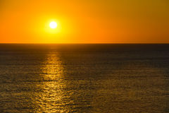 Sunset or sunrise over water Stock Photography