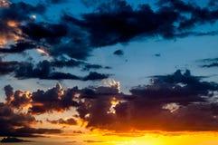 Sunset and sunrise sky. Stock Image