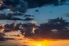 Sunset and sunrise sky. Stock Photography