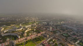 Sunset sunrise sky minsk cityscape aerial panorama 4k time lapse belarus. Belarus sunset sunrise sky minsk cityscape aerial panorama 4k time lapse stock video