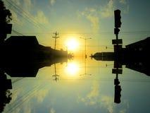 Sunset & sunrise royalty free stock photography