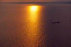Sunset sunrise water sea ocean Royalty Free Stock Photography