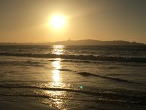 Sunset and Sunrises. Photo taken at Sunset and Sunrises  in Coquimbo Bay Chile Stock Photos
