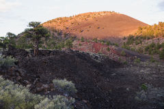 Sunset at Sunset Crater Volcano Stock Image