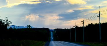 Sunset 9. Surest at height way very beautiful Royalty Free Stock Image