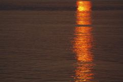 Sunset surface of a water royalty free stock photos