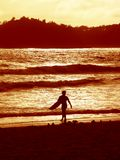 Sunset surfer 2 royalty free stock photos