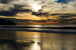 The Sunset Surfer Royalty Free Stock Photography