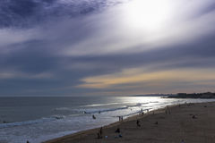 Sunset at surfers beach Stock Photography