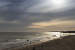 Sunset at surfers beach. Royalty Free Stock Photo