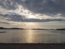 Sunset. Suset on te Adriatic sea Stock Images