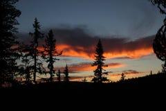 Sunset In Sweden Stock Image