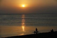 Sunset Swim in Stone Town Stock Photo