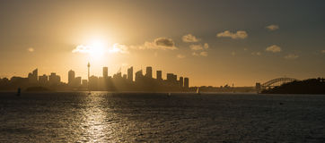 Sunset from Sydney Royalty Free Stock Photography