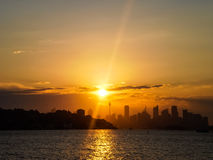Sunset at sydney city Royalty Free Stock Photography