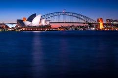 Sunset at Sydney Opera House Royalty Free Stock Image
