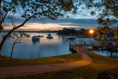 Sunset at Sydney seascape. Stock Image