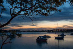 Sunset at Sydney seascape. Stock Photos