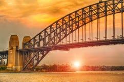 Sunset in Sydney Stock Photo