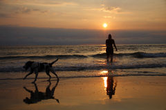 Sunset Sylt Royalty Free Stock Images