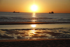 Sunset Sylt Royalty Free Stock Photos