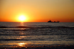 Sunset Sylt Royalty Free Stock Photography