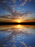 Sunset Symmetry Royalty Free Stock Photos