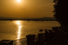 Sunset in Syracuse, Italy Royalty Free Stock Image