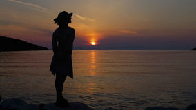 Sunset. In Syvota, Igoumenitsa, Greece Royalty Free Stock Photography