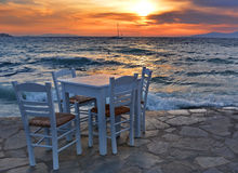 Sunset table Stock Images