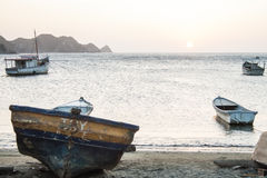 Sunset at Taganga bay Royalty Free Stock Image