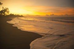 Sunset in Tahiti Royalty Free Stock Photo