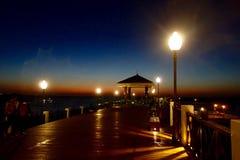 Sunset. Taipei fisherman's wharf of dusk Royalty Free Stock Photo