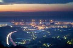 Sunset of Taipei port Royalty Free Stock Image