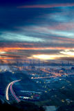 Sunset of Taipei port with nice cloud Royalty Free Stock Image