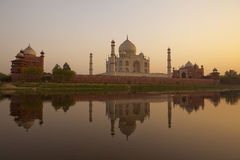 Sunset at the Taj Mahal Stock Image