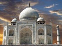 Sunset on Taj Mahal Stock Image