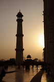 Sunset. Taj Mahal, India. Stock Photo