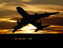 Sunset take off Royalty Free Stock Photography