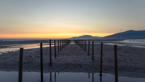A beautiful sunset in Tarifa. stock images