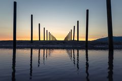 A beautiful sunset in Tarifa. royalty free stock photography