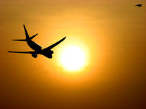 Sunset Takeoff Royalty Free Stock Photography