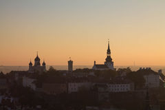 Sunset in Tallinn Stock Photography