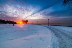 Sunset in Tallinn Stock Image