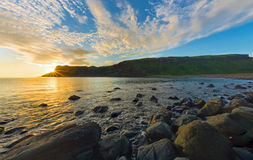 Sunset at Talsiker Bay, Scotland Stock Image
