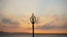Sunset at Tamsui River Royalty Free Stock Images