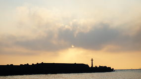 Sunset at Tamsui River Royalty Free Stock Photo
