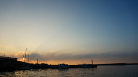 Sunset at Tamsui River Royalty Free Stock Photos