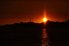 Sunset at Tamsui Stock Image