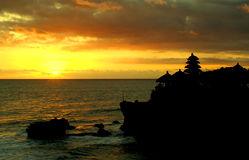 Sunset at Tanah Lot Royalty Free Stock Image